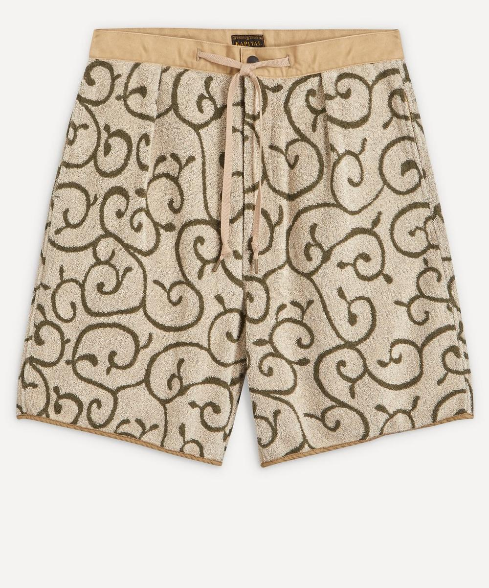 Kapital - Swirl Print Fleece Matching Shorts