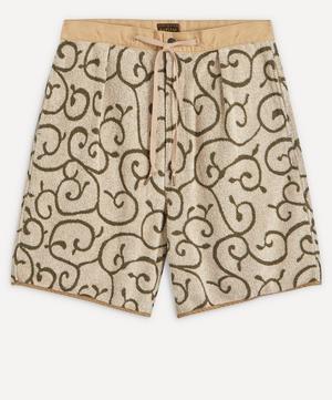 Swirl Print Fleece Matching Shorts