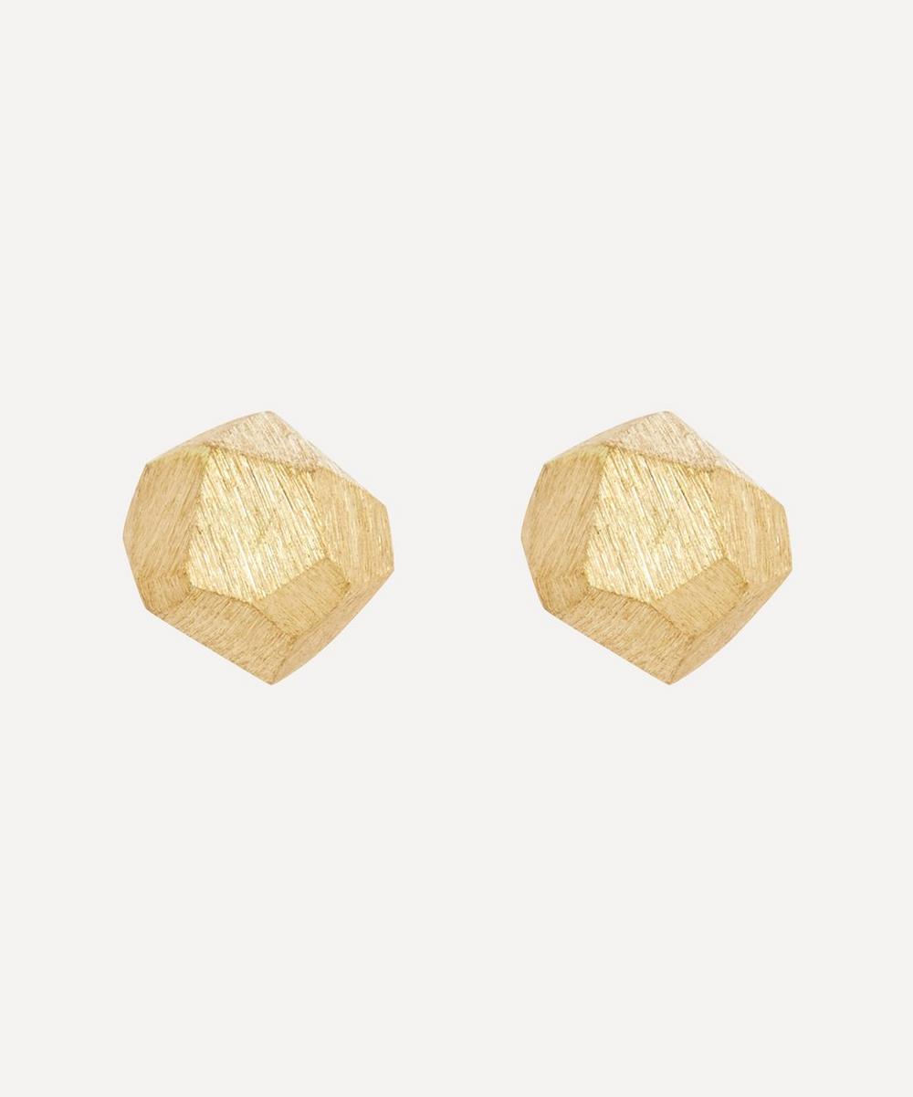 Satomi Kawakita - 18ct Gold Faceted Stud Earrings