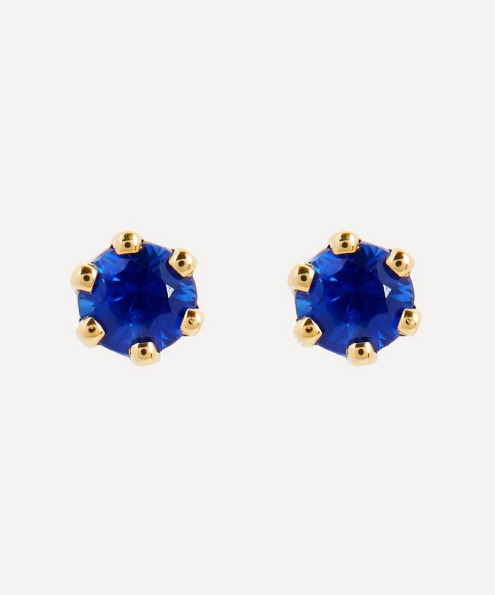 Satomi Kawakita - 14ct Gold Baby Blue Sapphire Stud Earrings