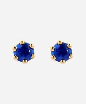 14ct Gold Baby Blue Sapphire Stud Earrings