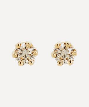 14ct Gold Baby Brown Diamond Stud Earrings