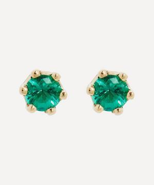 14ct Gold Baby Emerald Stud Earrings