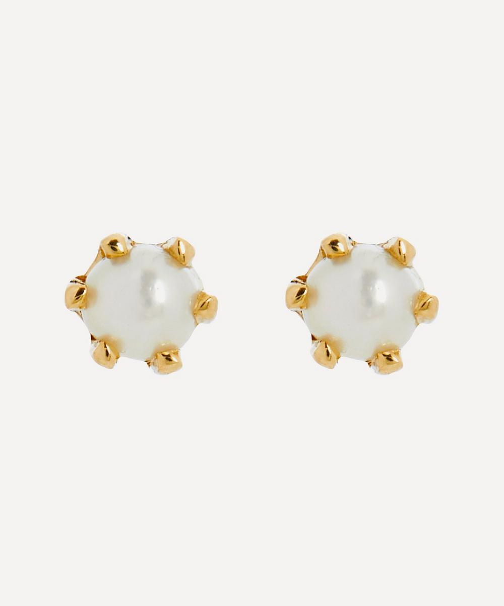 Satomi Kawakita - 14ct Gold Baby Pearl Stud Earrings