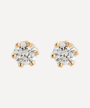 14ct Gold Baby White Diamond Stud Earrings