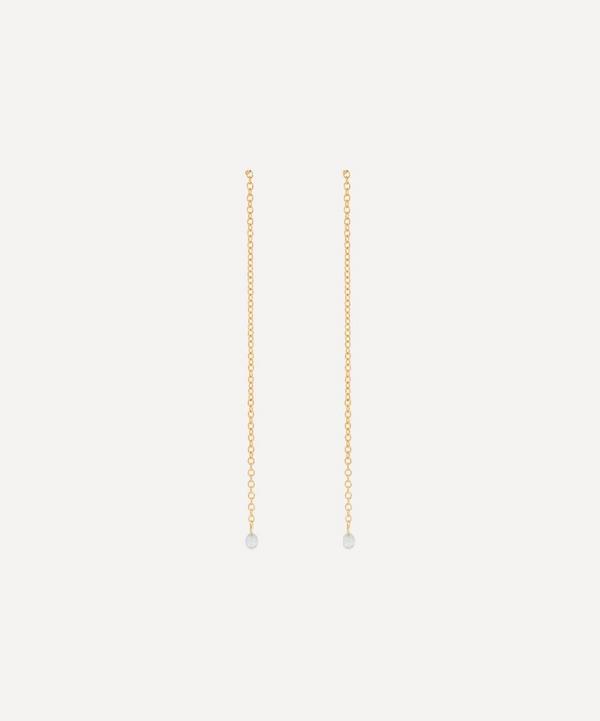 Satomi Kawakita - 18ct Gold Diamond Chain Drop Earrings