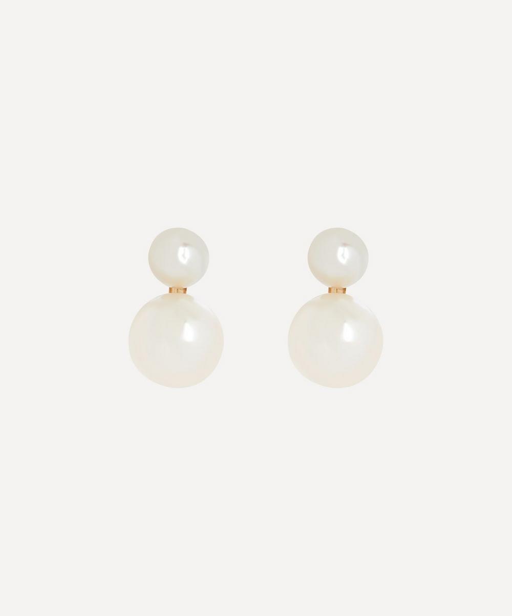 Satomi Kawakita - 14ct Gold Pearl Sweetheart Stud Earrings