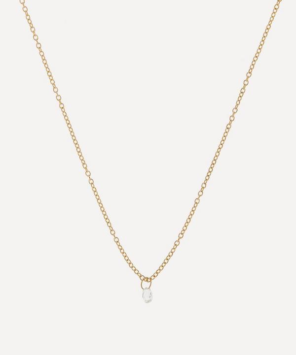 Satomi Kawakita - 18ct Gold Diamond Drop Pendant Necklace