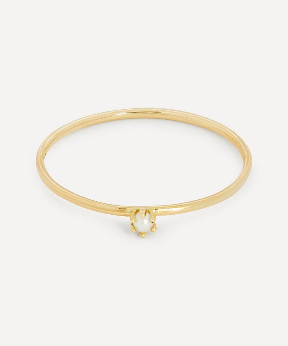 Satomi Kawakita - 18ct Gold Baby Pearl Ring