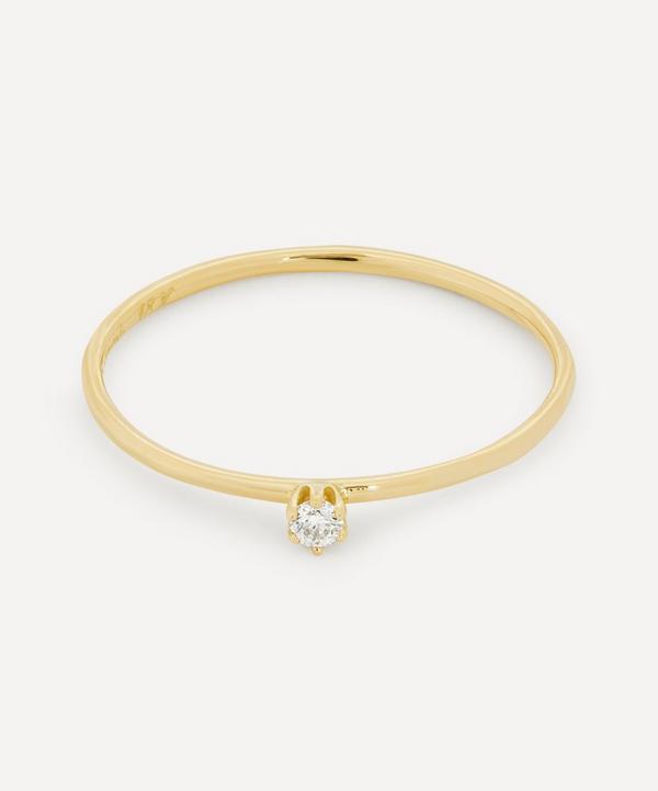 Satomi Kawakita - 18ct Gold Baby White Diamond Ring