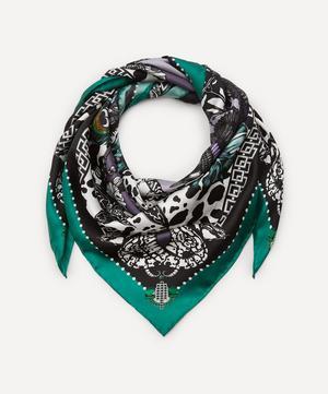 The Jewel and Jaguar Silk Scarf