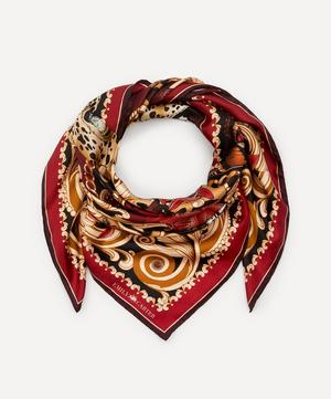 The Leopard and Ruby Silk Scarf