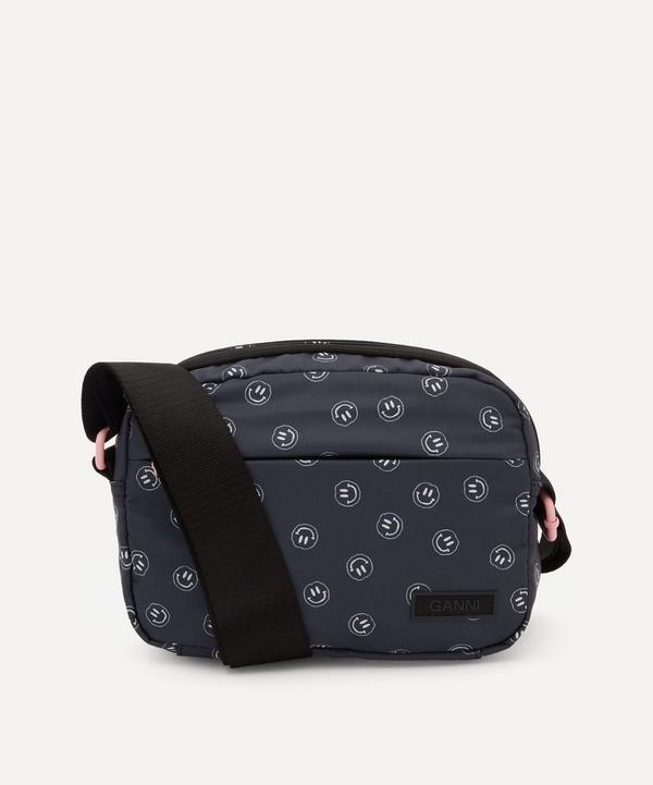 Ganni - Recycled Tech Fabric Smiley Cross-Body Bag