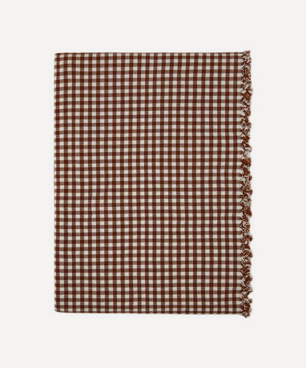Heather Taylor Home - Nutmeg Gingham Cotton Tablecloth