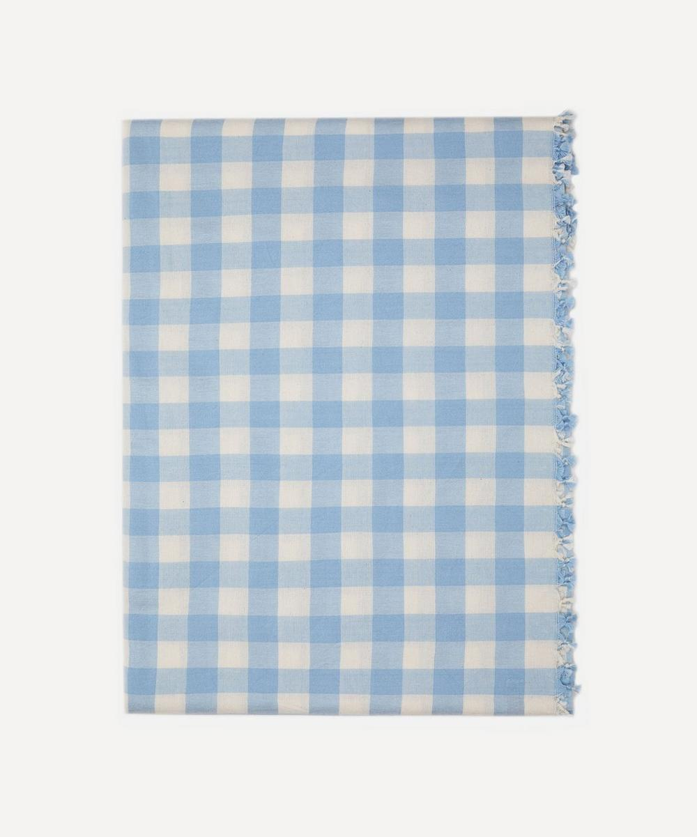 Heather Taylor Home - Baby Blue Gingham Cotton Tablecloth