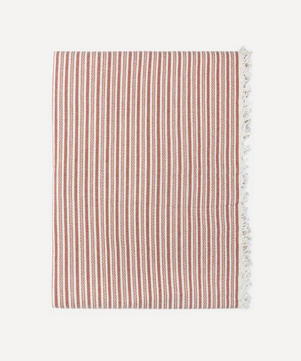 Heather Taylor Home - Canyon Stripe Cotton Tablecloth