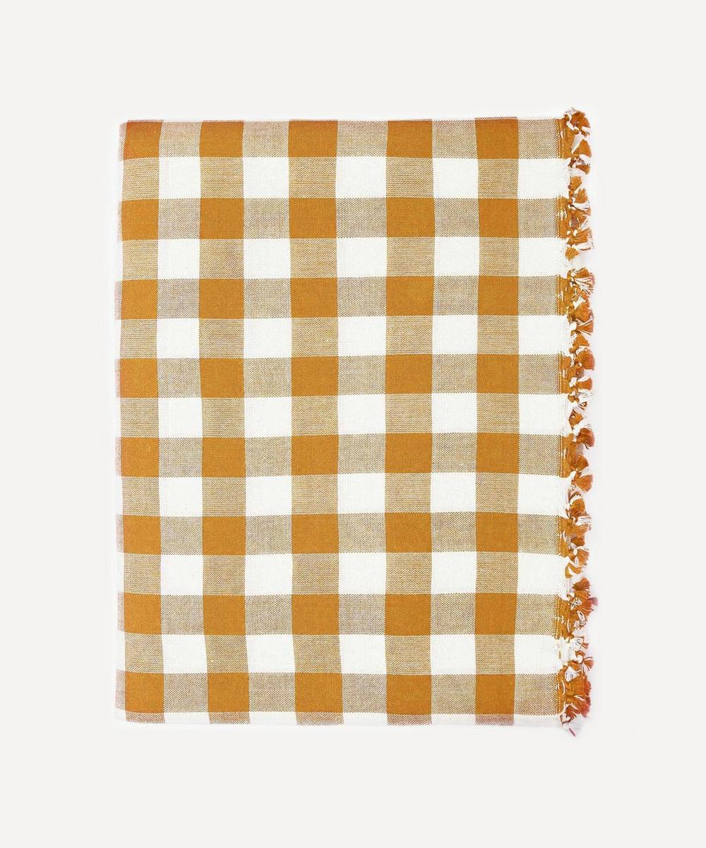 Heather Taylor Home - Goldenrod Gingham Cotton Tablecloth
