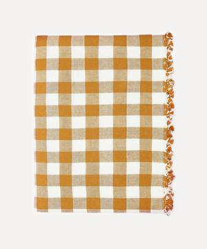 Goldenrod Gingham Cotton Tablecloth
