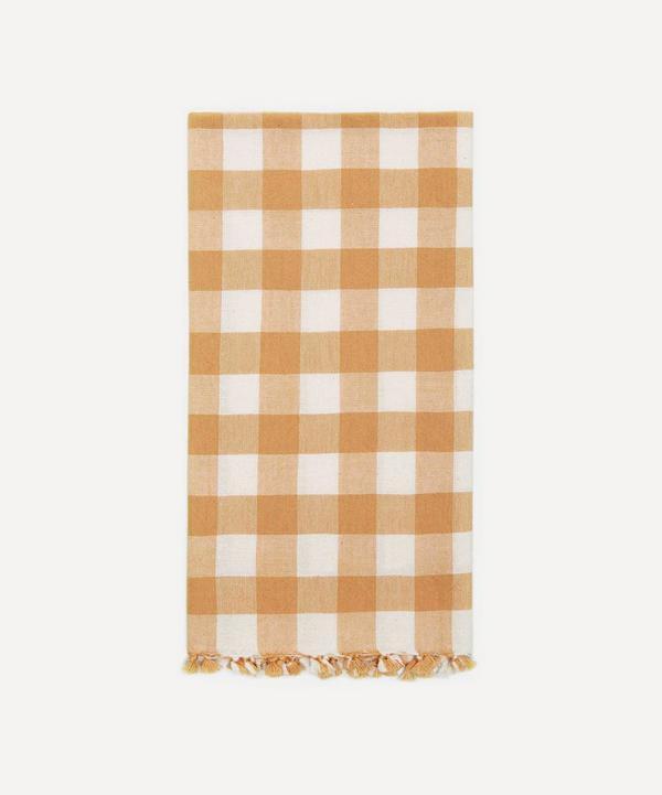 Heather Taylor Home - Goldenrod Gingham Cotton Tea Towel