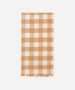 Goldenrod Gingham Cotton Tea Towel