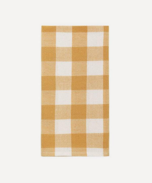 Heather Taylor Home - Goldenrod Gingham Cotton Napkins Set of Four