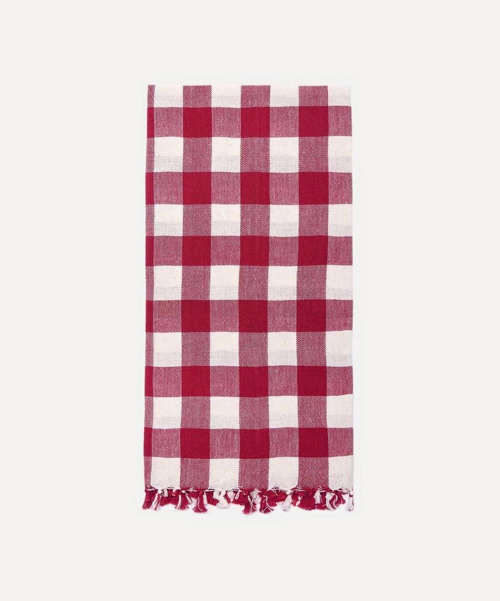 Heather Taylor Home - Cherry Gingham Cotton Tea Towel