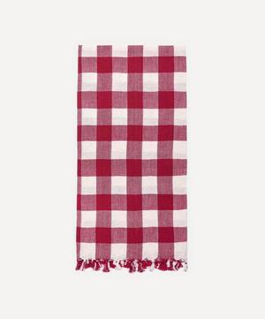 Cherry Gingham Cotton Tea Towel