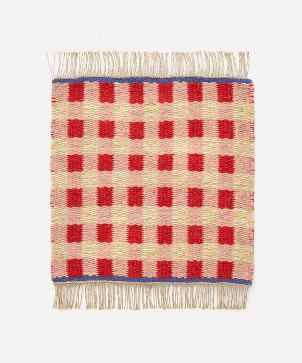 Epoch Textiles - Mini Hand-Loomed Gingham Rug