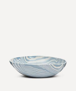Blue and White Small Salad Bowl