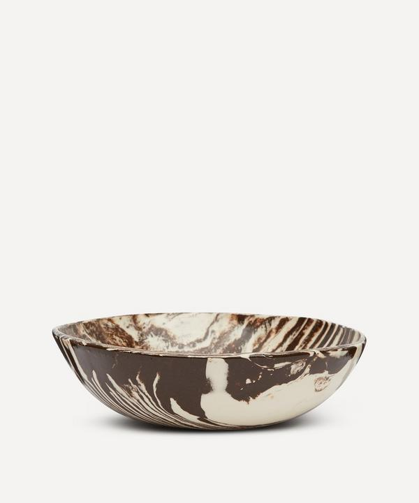 Henry Holland Studio - Brown and White Small Salad Bowl