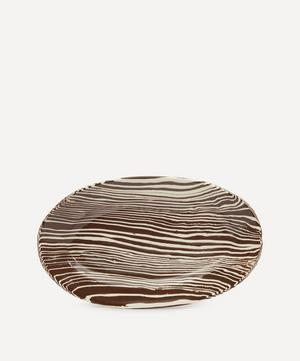 Brown and White Small Serving Platter