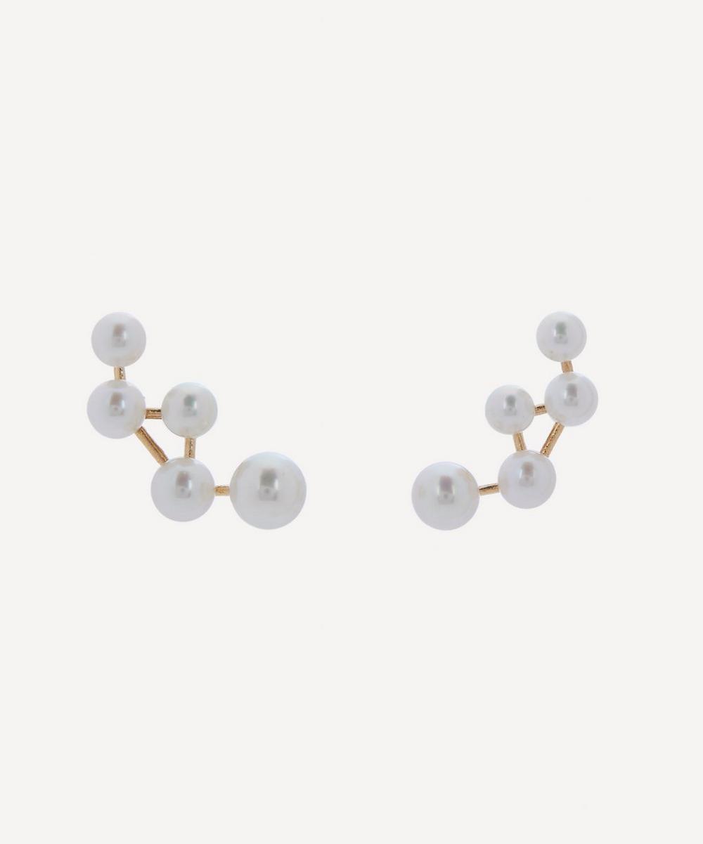 Satomi Kawakita - 14ct Gold Cassiopeia Pearl Earrings