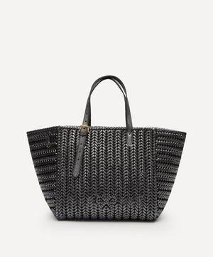 Neeson Woven Leather Square Tote Bag