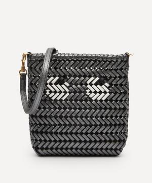 Eyes Mini Neeson Woven Leather Cross-Body Bag