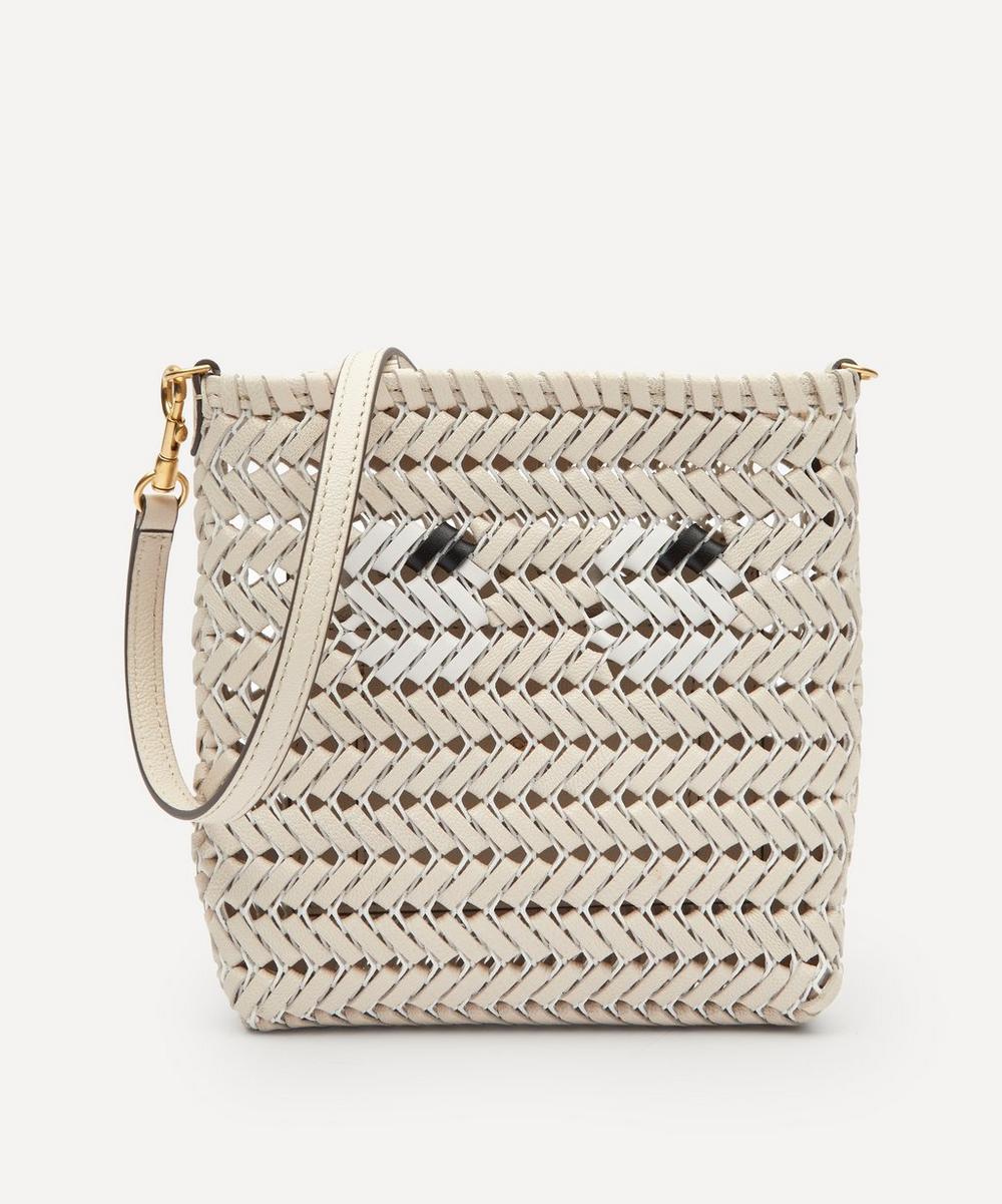 Anya Hindmarch - Eyes Mini Neeson Woven Leather Cross-Body Bag