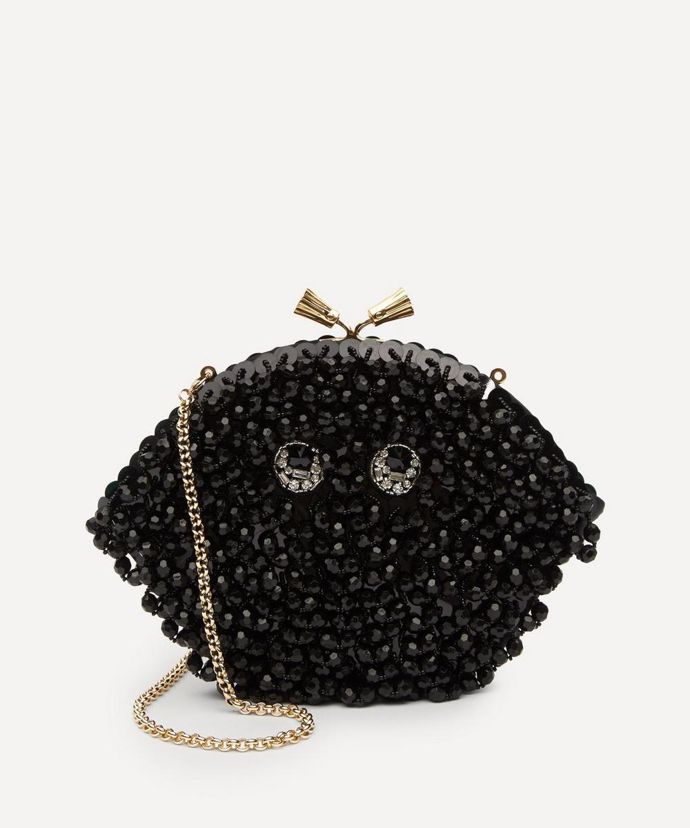 Anya Hindmarch - Eyes Maud Tassel Beaded Clutch Bag
