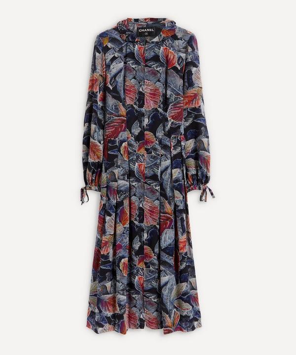 Designer Vintage - Chanel 2000 Floral Print Silk Maxi-Dress