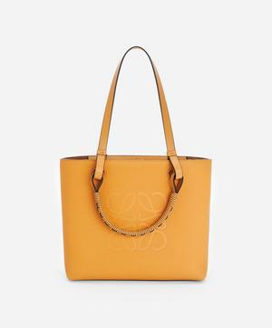Small Anagram Leather Tote Bag