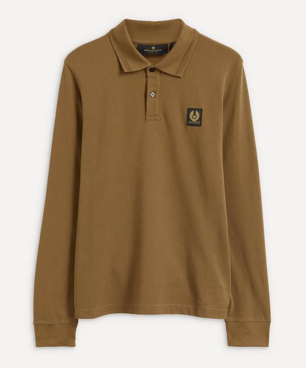 Belstaff - Logo Patch Long-Sleeve Cotton Polo-Shirt