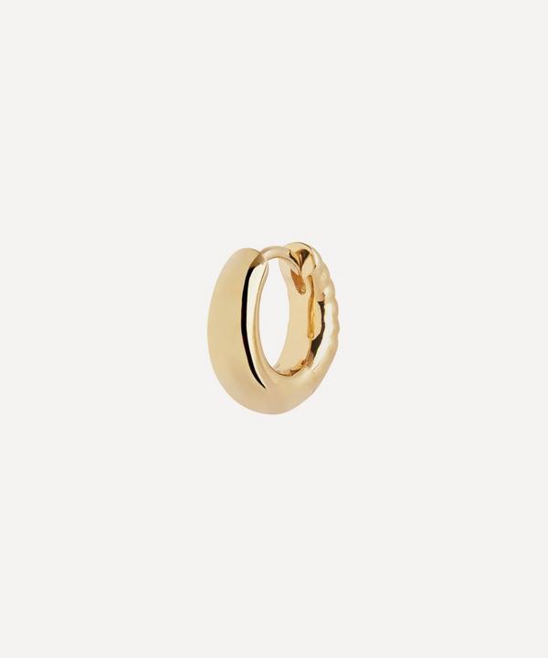 Maria Black - Gold-Plated Laid Back 7 Single Huggie Hoop Earring
