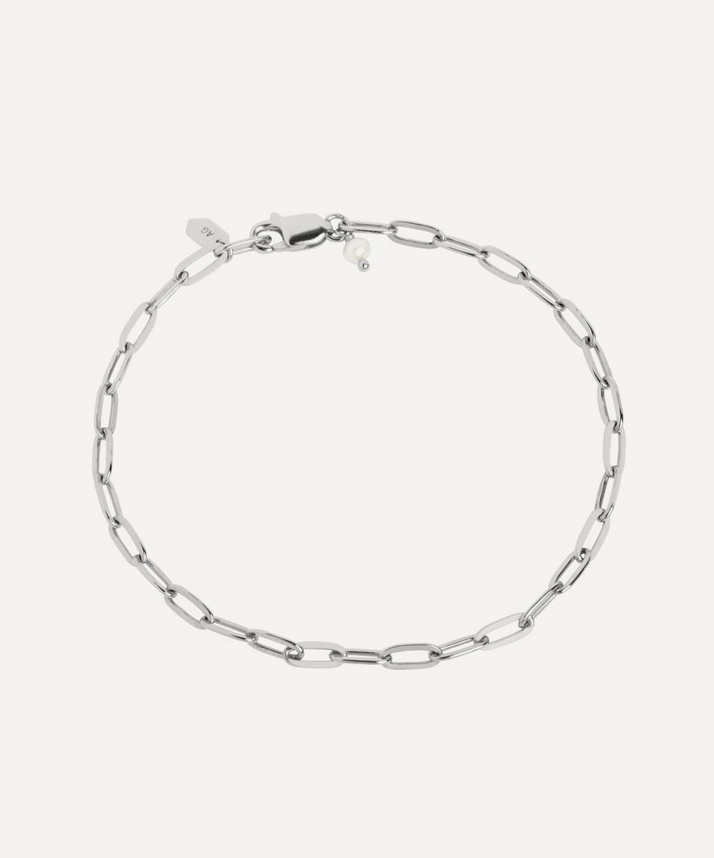 Maria Black - White Rhodium-Plated Gemma Chain Bracelet