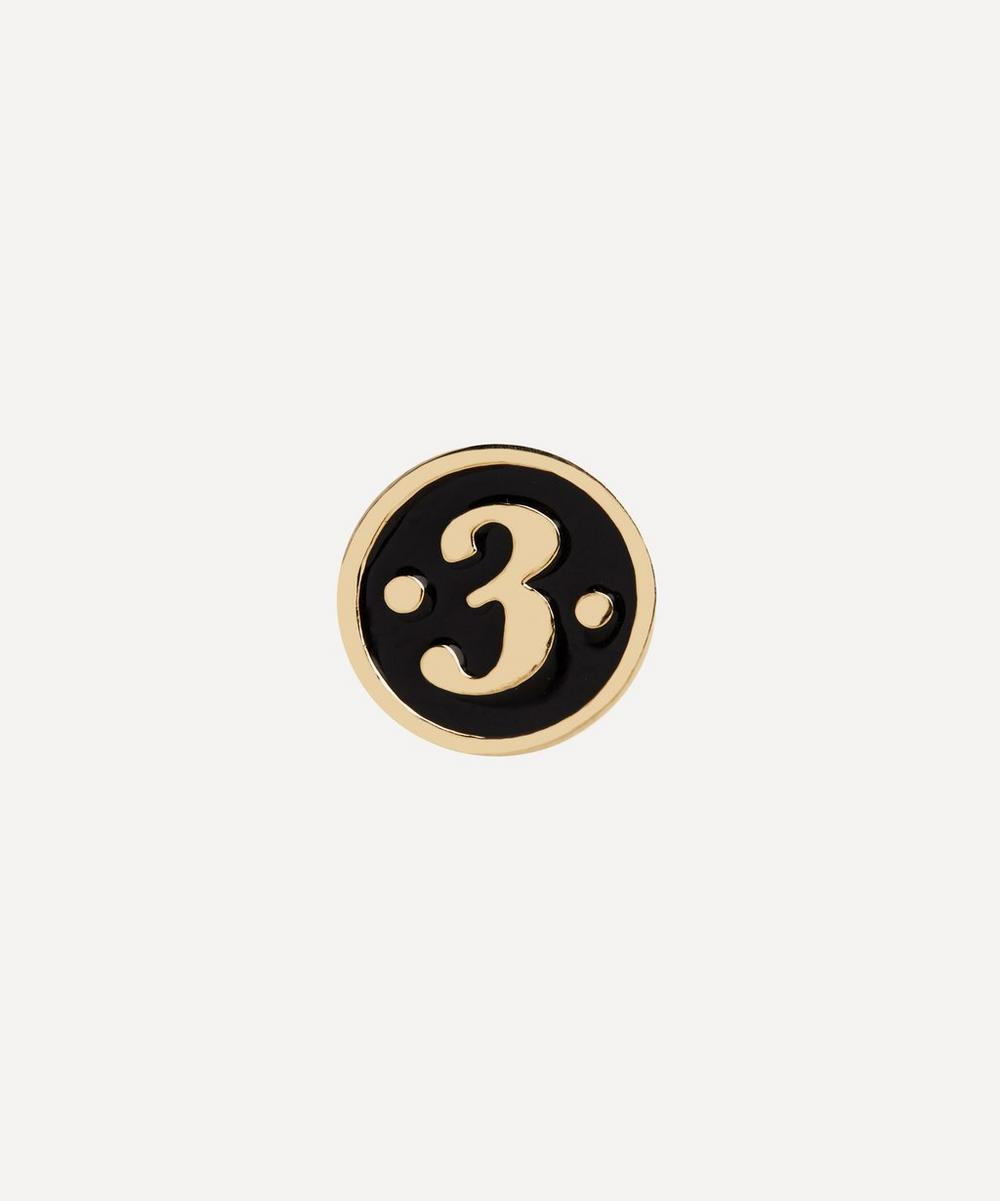 Maria Black - Gold-Plated Lucky Number 3 Coin