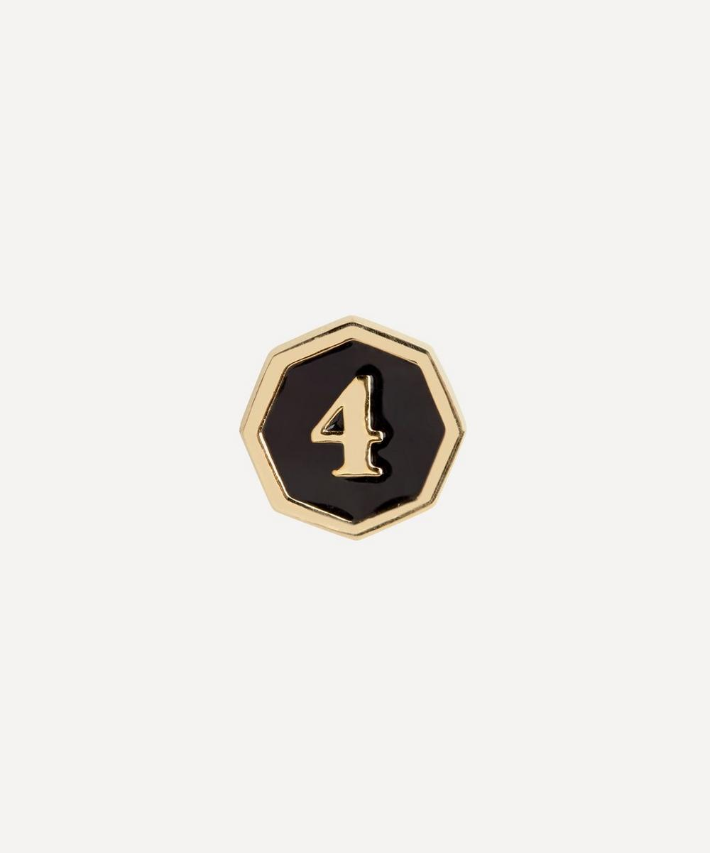 Maria Black - Gold-Plated Lucky Number 4 Coin