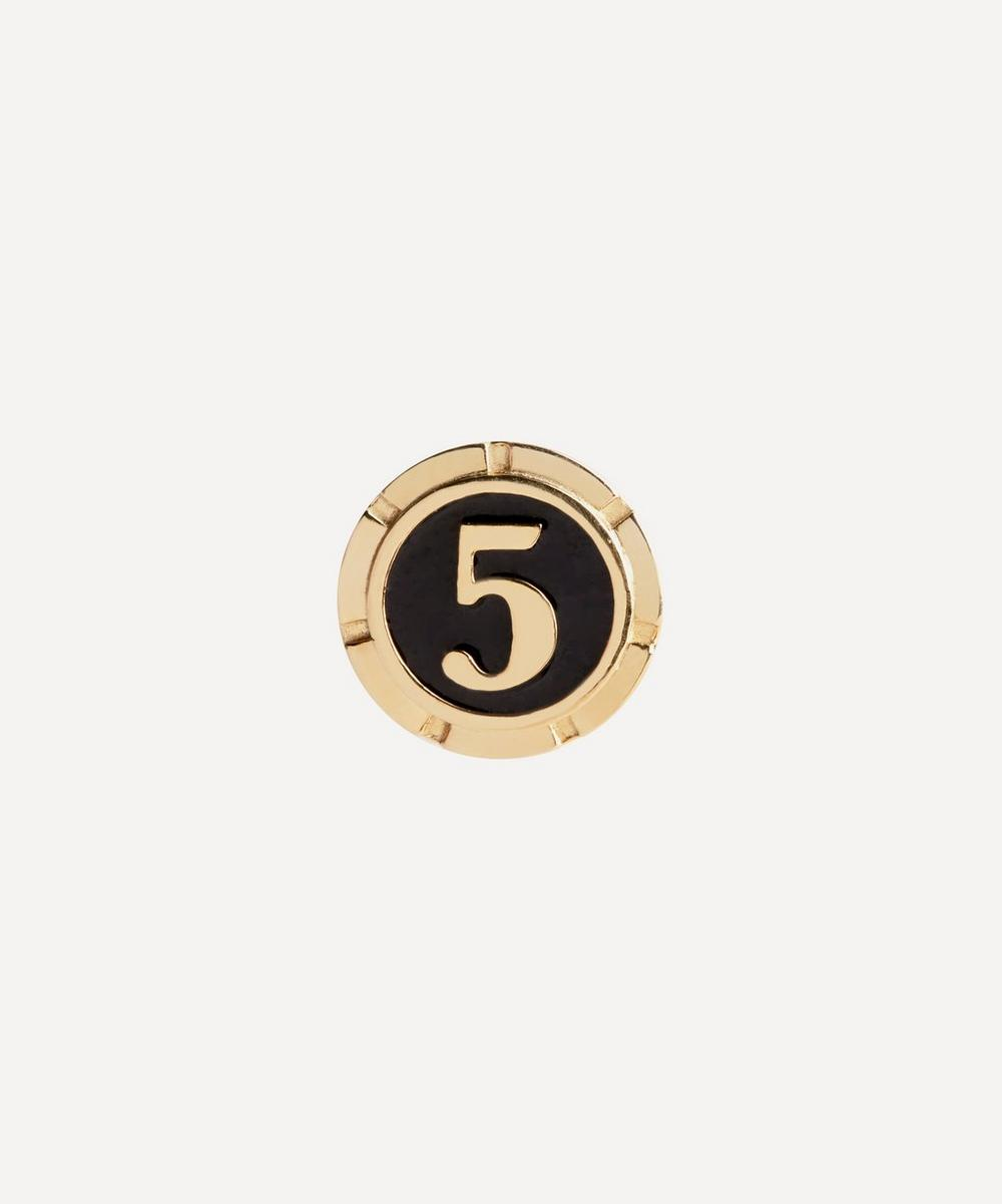 Maria Black - Gold-Plated Lucky Number 5 Coin