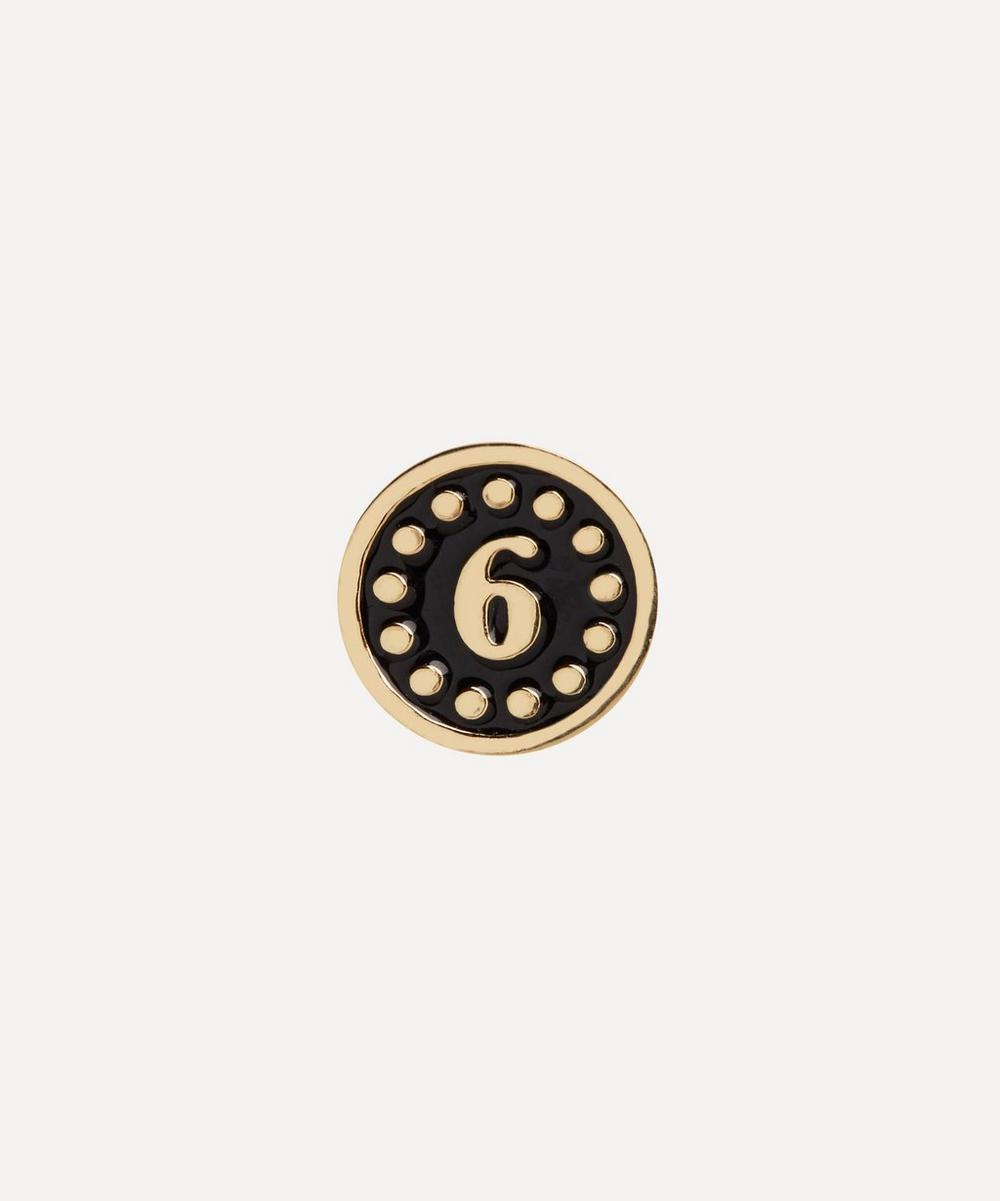 Maria Black - Gold-Plated Lucky Number 6 Coin