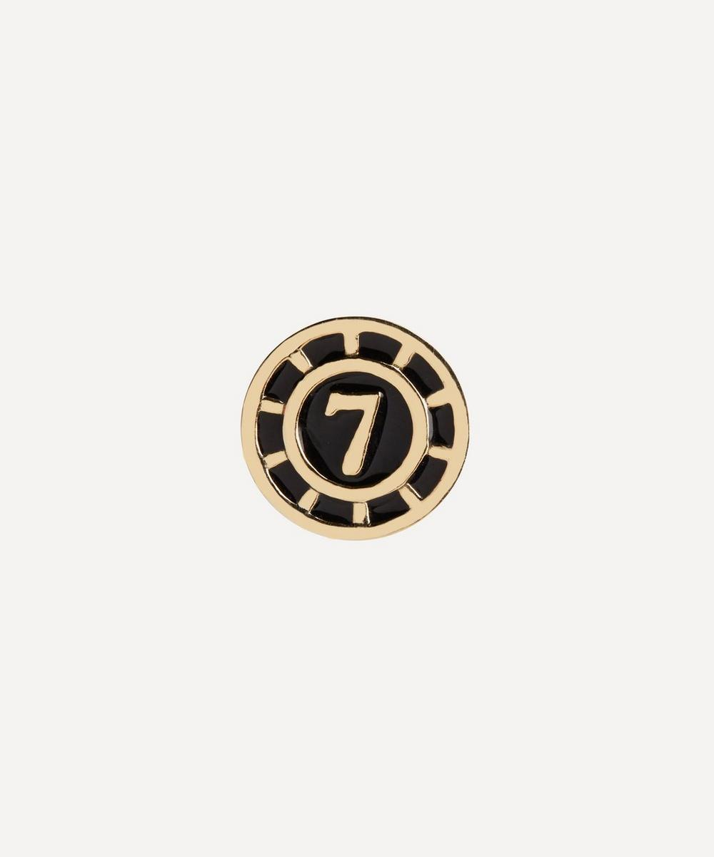 Maria Black - Gold-Plated Lucky Number 7 Coin