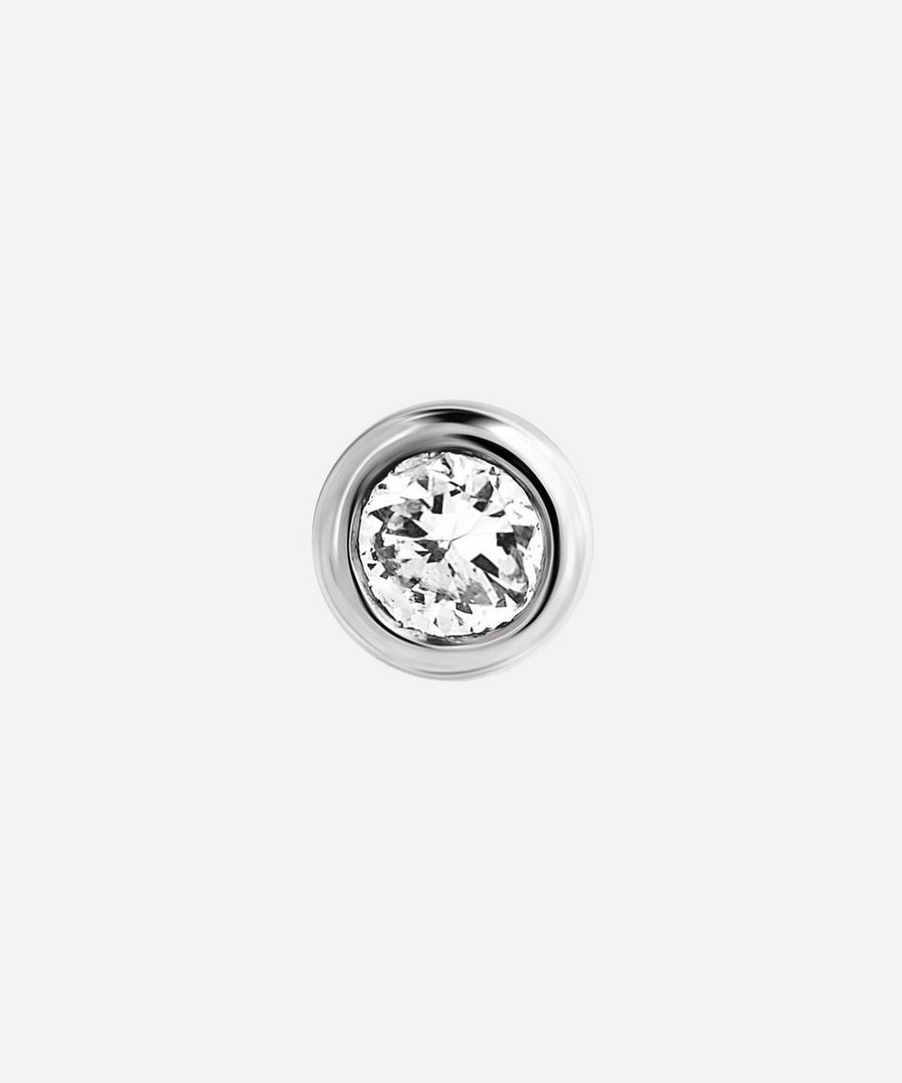 Maria Black - White Gold Big Dot Diamond Single Stud Earring