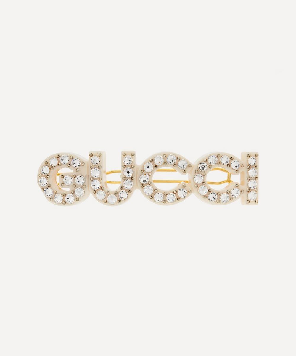 Gucci - Crystal Gucci Resin Hair Clip