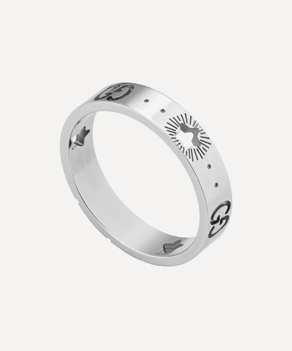 Gucci - 18ct White Gold Icon Star Ring