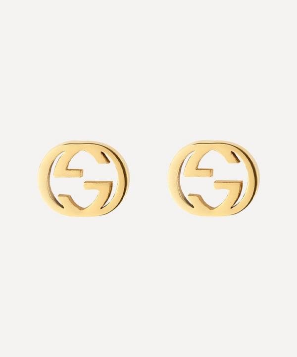 Gucci - Gold Interlocking G Stud Earrings